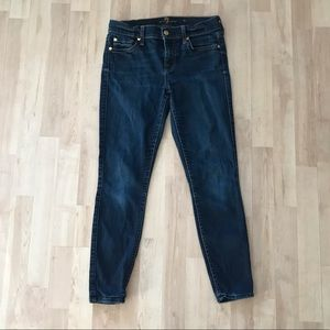 7 For All Mankind Cropped Skinny size 26